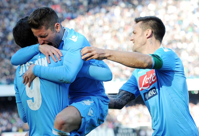 mertens napoli x Sampdoria (Foto: Getty Images)