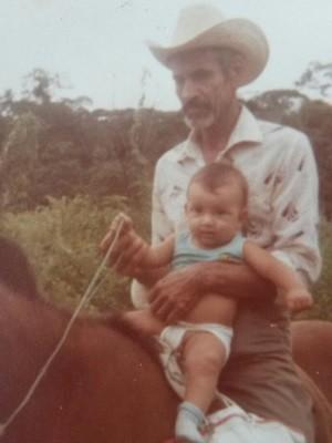 Neto de Epifânio, idoso de 95 anos que vai se casar com a Coracy, em Goiânia, Goiás (Foto: Arquivo pessoal)