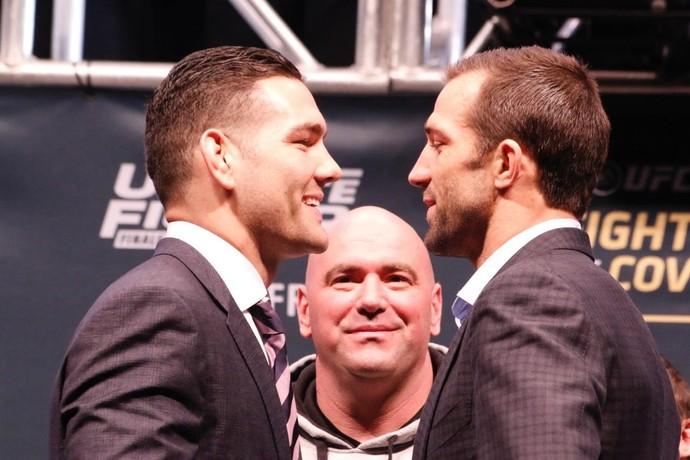 Chris Weidman x Luke Rockhold Coletiva UFC Las Vegas (Foto: Evelyn Rodrigues)