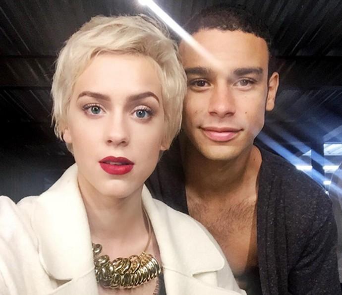 Sophia e Sérgio fazem selfie (Foto: Arquivo Pessoal)