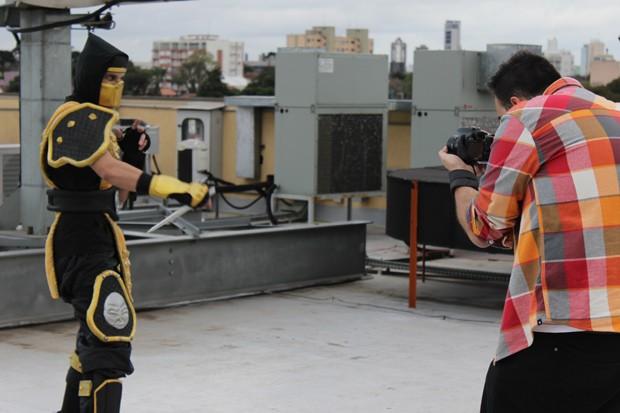 Wellington faz cosplay de Scorpion há oito anos (Foto: Divulgação/RPC TV)