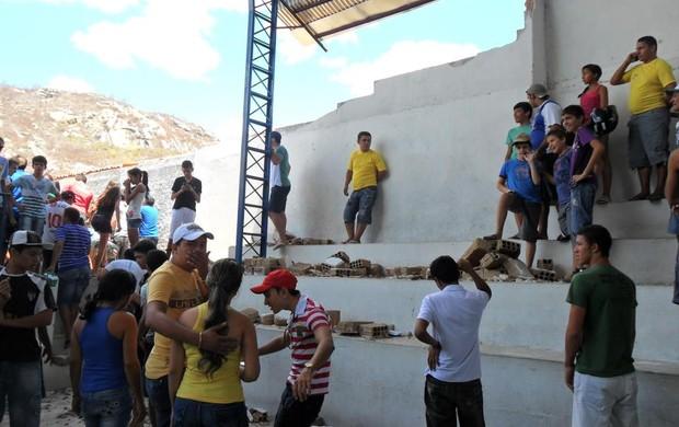 acidente no futsal da Paraíba (Foto: Arquivo Pessoal)