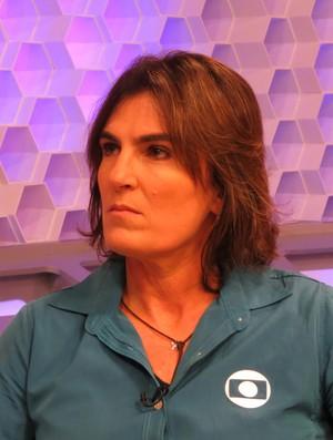 Shelda no Corujão do Esporte (Foto: Daniel Cardoso)