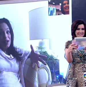 Fátima dá dicas para futura mamãe de trigêmeos (Reprodução/ TV Globo)