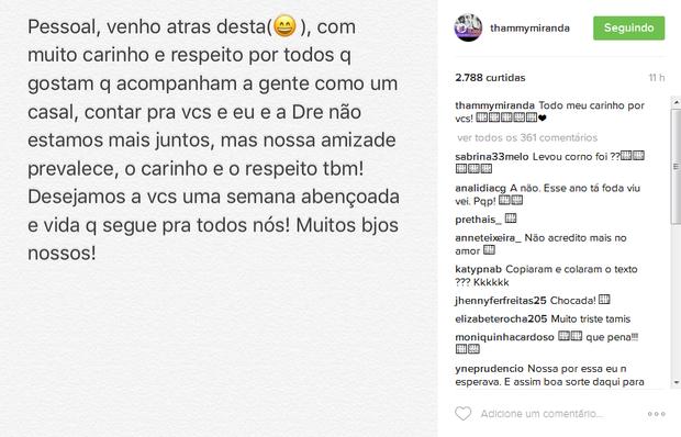 Post de Thammy (Foto: Reprodução/Instagram)