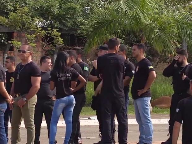 Vigilantes penitenciários temporários entram em greve em Goiás (Foto: Reprodução/TV Anhanguera)