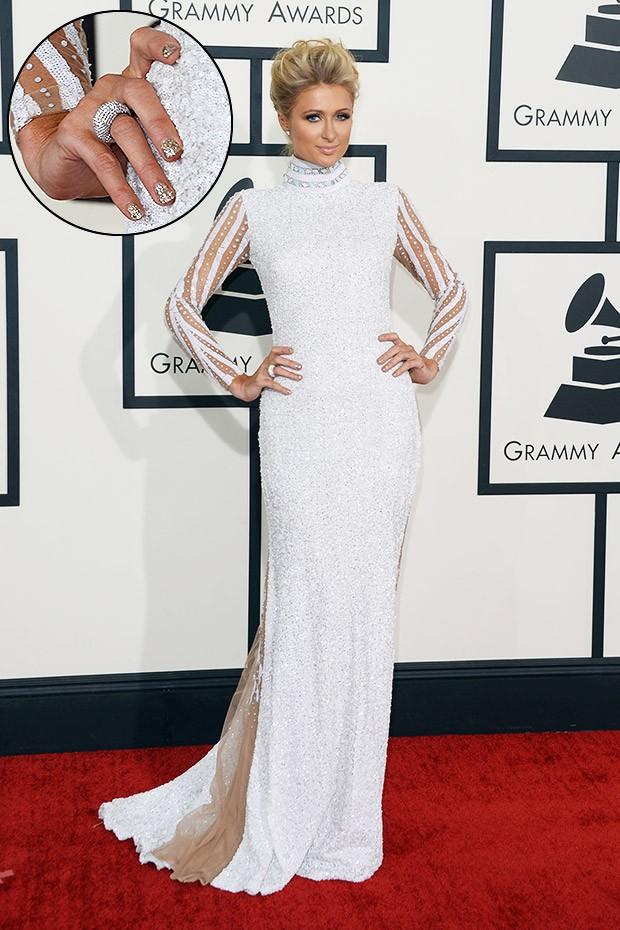 [Grammy - unhas] Paris Hilton (Foto: AFP / Agência)