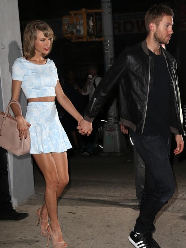 Taylor Swift e Calvin Harris (Foto: Grosby Group)
