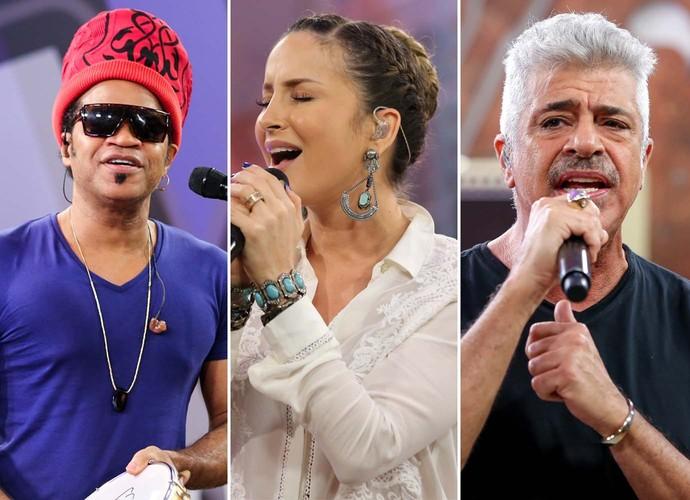 Carlinhos Brown Claudia Leitte Lulu Santos técnicos (Foto: Isabella Pinheiro/Gshow)