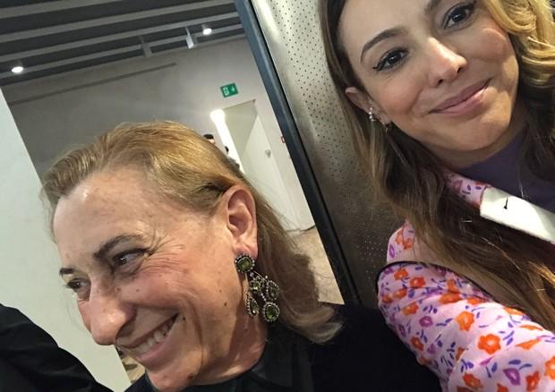 Miuccia Prada e Camila Garcia (Foto: Camila Garcia)