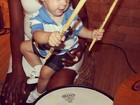 Fofo! Filho de Neymar toca bateria: 'Mais lindo do mundo'