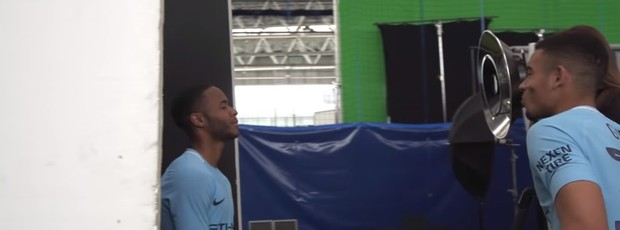 Sterling Gabriel Jesus Manchester City uniforme