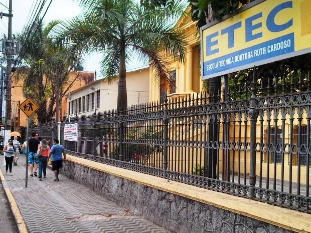 ETEC Dra. Ruth Cardoso (Foto: Ivair Vieira Jr/G1)