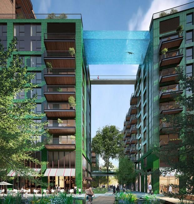 Totalmente transparente, a piscina oferece uma vista de Londres à 35 m de altura (Foto: Divulgação)