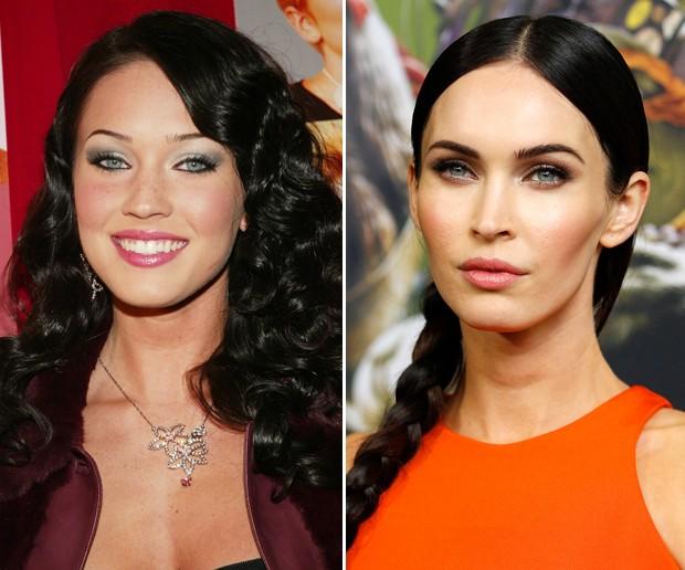 Antes e depois: Megan Fox (Foto: Getty Images)