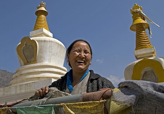O conceito de Felicidade Interna Bruta nasceu no Butão e está profundamente relacionado com o budismo  (Foto: © Haroldo Castro/ÉPOCA)