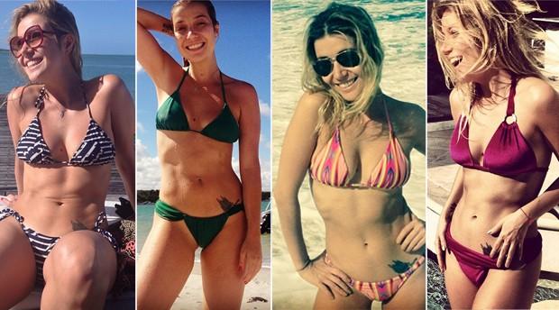 Luiza Possi gosta de se bronzear com modelos pequeninos. (Foto: Reproduo Instagram)