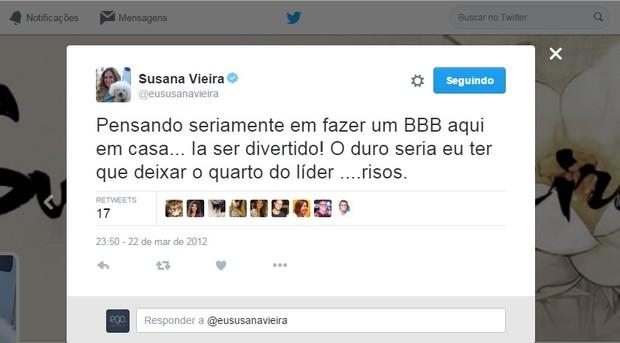 @eususanavieira (Foto: Reprodução/Twitter)