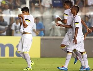Daniel Guedes Stéfano Yuri Diego Cardoso Santos (Foto: Pedro Ernesto Guerra Azevedo/Divulgação Santos FC)