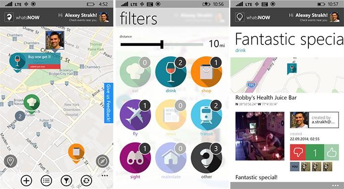 whatsNOW é um aplicativo para Windows Phone que ajuda usuário a descobrir eventos (Foto: Divulgação/Windows Phone Store)