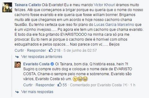 Evaristo (Foto: Reprodução/Facebook)