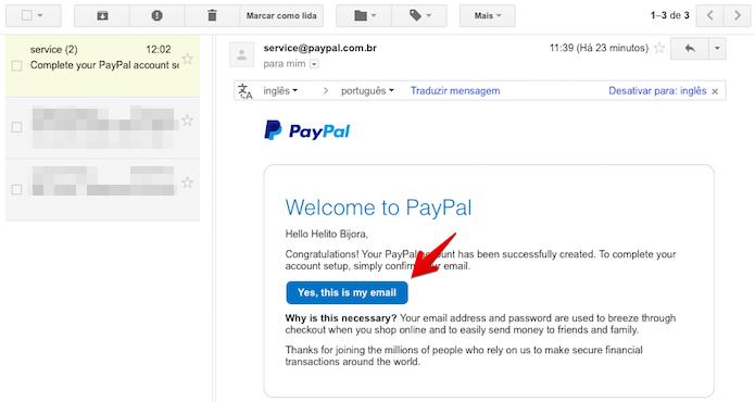 Confirme o endereço de e-mail cadastrado (Foto: Reprodução/Helito Bijora)