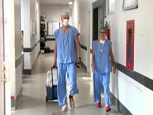 transplante pulmões pulmão Divinópolis MG  Hospital São João de Deus HSJD (Foto: Reprodução/TV Integração)