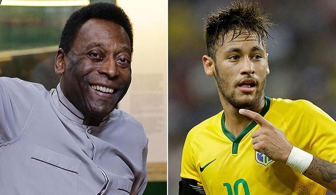 montagem Pelé e Neymar (Foto: Editoria de Arte)
