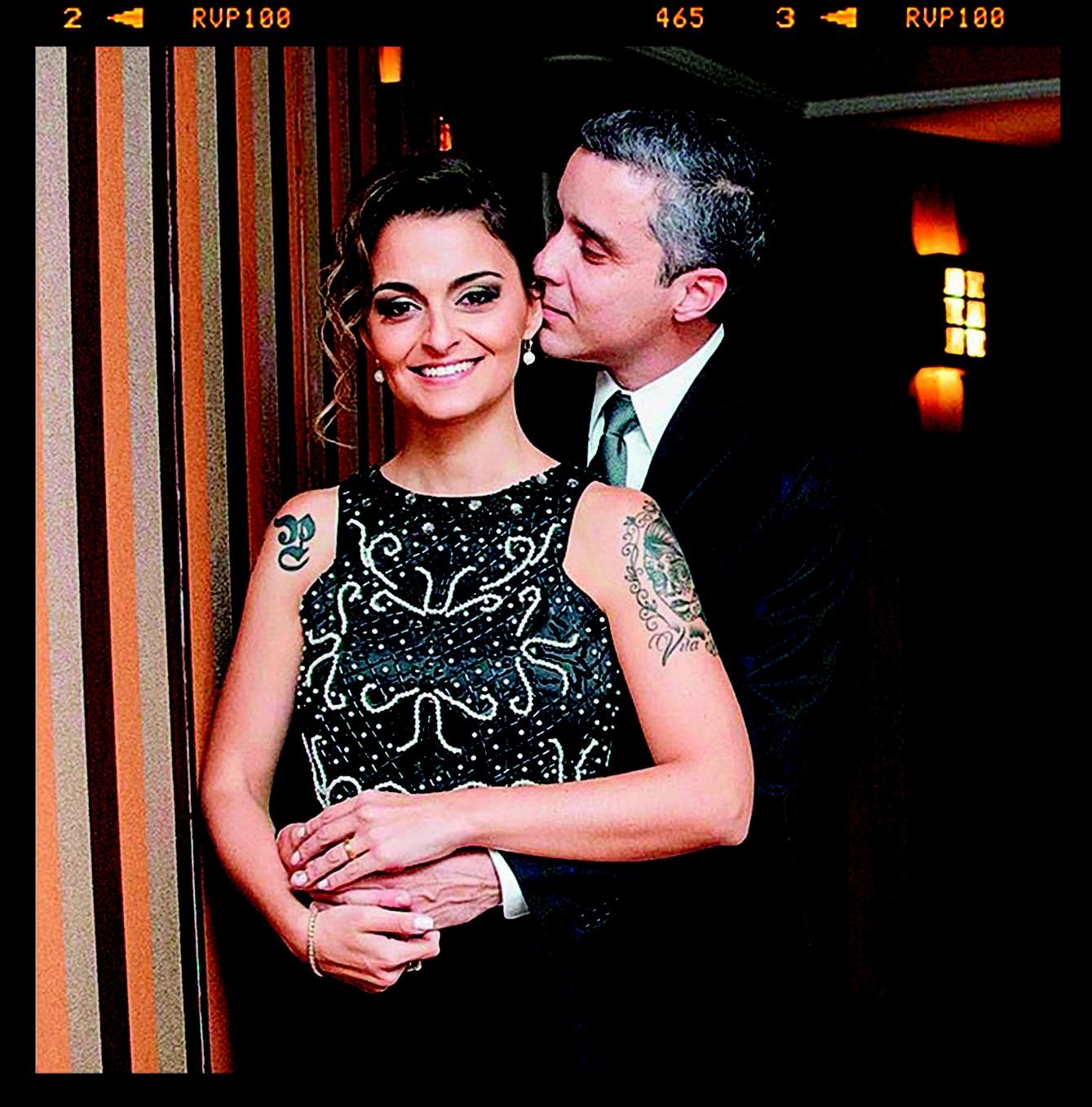Paula e seu marido, Luciano (Foto: Arquivo pessoal)