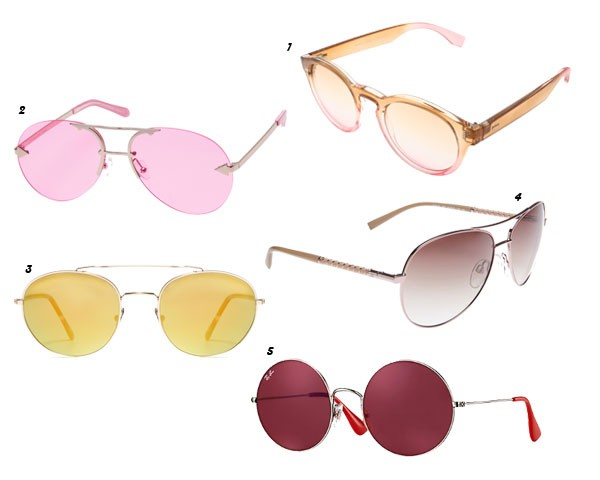 1. Óculos Renner, R$ 49,90/ 2. Óculos Karen Walker Eyeshadow, a partir de R$ 1.740 na Acaju do Brasil/ 3. Óculos LGR, modelo Dahlak Large, R$ 1996,40 na Acaju do Brasil/ 4. Óculos de Ana Hickmann Eyewear, R$ 297/ 5. Óculos Ray-Ban, modelo Jajo, R$ 470 (Foto: Divulgação)