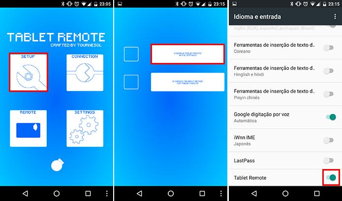 Inicie a configuração do Tablet Remote (Foto: Reprodução/Paulo Alves)