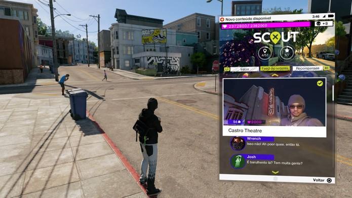 Como usar o Instagram em Watch Dogs 2 e completar as missões (Foto: Reprodução/Felipe Vinha)