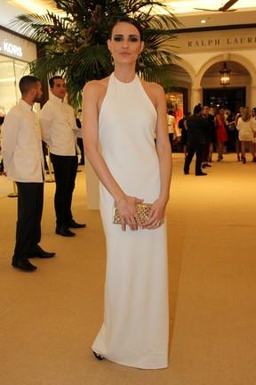 Fernanda Tavares em inauguração de loja em São Paulo (Foto: Paduardo/ Ag. News)