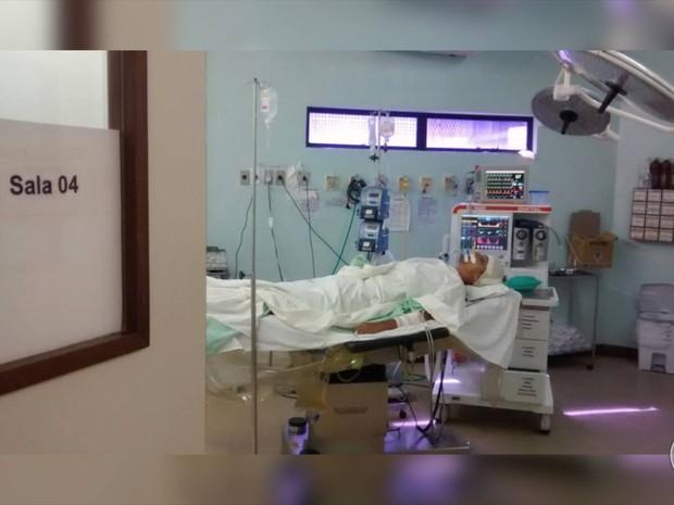 Pacientes ocupam salas de cirurgia no Hospital Walfredo Gurgel; Leitos de UTI estão ocupados (Foto: Reprodução/ Inter TV Cabugi)