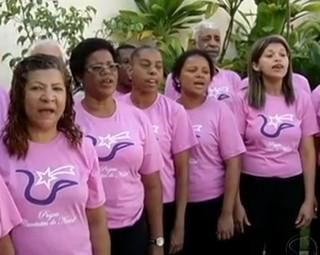 Coral Municipal percorre diversos locais de Volta Redonda (Foto: Reprodução RJTV 1ª Edição)
