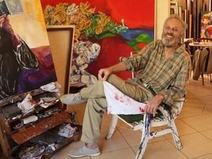 Artista Egas Francisco fará apresentações ao vivo de pintura de aquarela  (Foto: Fernando Bisan )