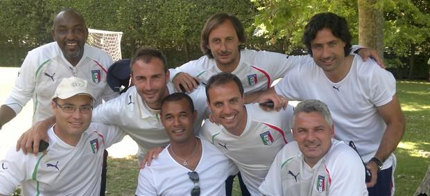Zé Maria e Baggio, ex-jogadores em curso para treinadores (Foto: Arquivo Pessoal)