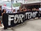 Caminhada em Maceió pede saída do presidente Temer e novas eleições