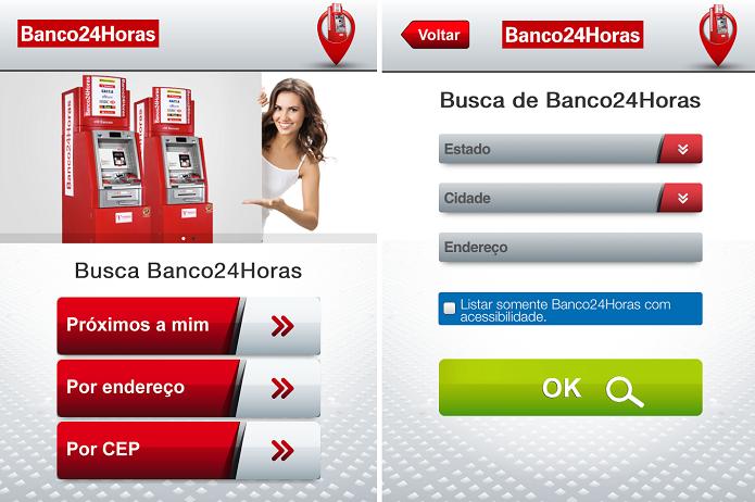 Banco24Horas é o aplicativo oficial da rede de bancos (Foto: Divulgação/Banco24Horas)