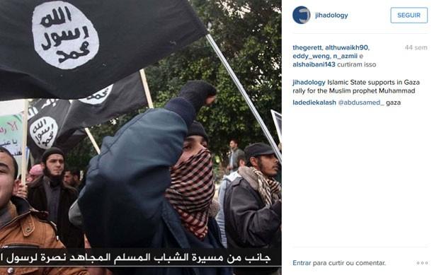 Foto publicada no Instagram pelo perfil Jihadology, associado ao Estado Islamico. (Foto: Reprodução/Instagram/Jihadology)