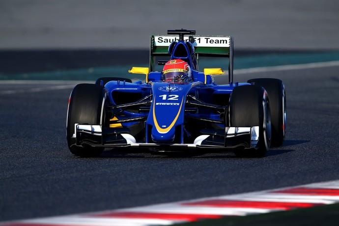 Felipe Nasr - Sauber - testes de pré-temporada - Barcelona -  dia 1 (Foto: Getty Images)
