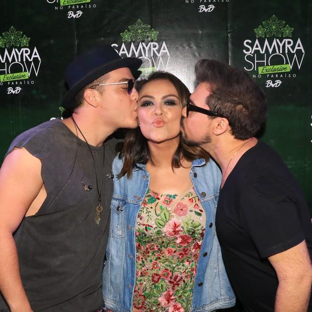 Wesley Safadão, Samyra Show e Xand em show em Fortaleza, no Ceará (Foto: Fred Pontes/ Divulgação)