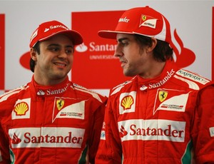 Fernando Alonso e Felipe Massa no GP da China (Foto: Getty Images)
