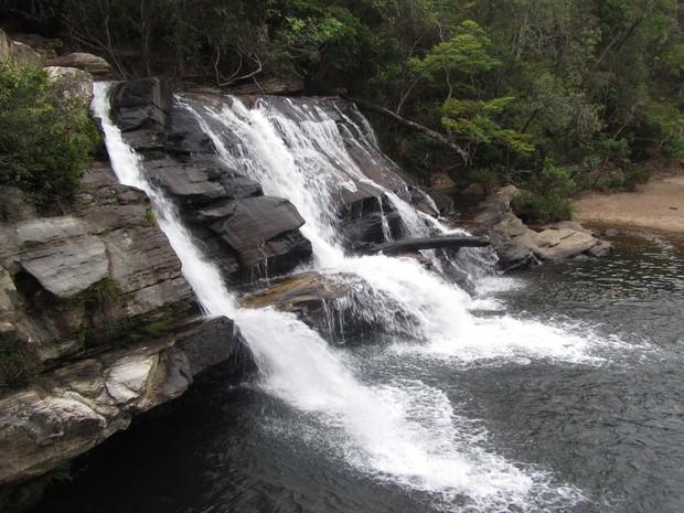A Cachoeira da Zilda é uma das muitas que há na região de Carrancas (Foto: Daniel Iozzi/VC no G1)