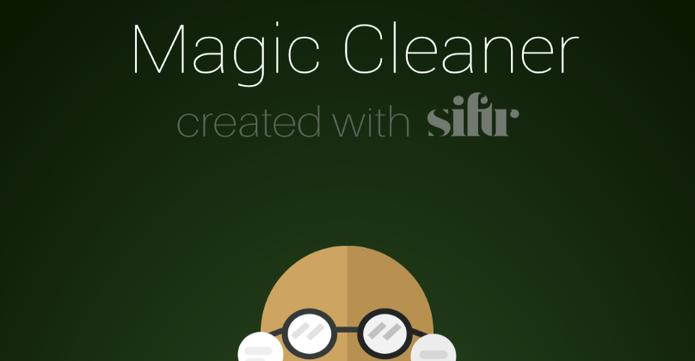 Magic Cleaner for WhatsApp ajuda usuário a limpar app (Foto: Divulgação/Siftr Labs)