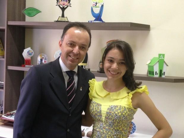 Pai e filha farão prova do Enem juntos (Foto: Larissa Matarésio/G1)