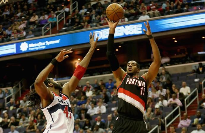 Nenê e LaMarcus Aldridge Wizards x Blazers NBA (Foto: Getty)