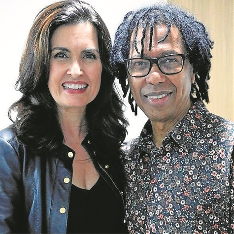 Fátima Bernardes e Djavan (Foto: Roberta Stamatto)