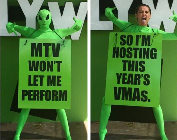 Miley Cyrus anuncia que será anfitriã do VMA 2015 (Foto: Divulgação)