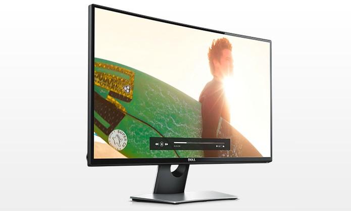 Monitor Dell Curvo SE2716H tem tamanho menor, com 27 polegadas Full HD (Foto: Divulgação/Dell)